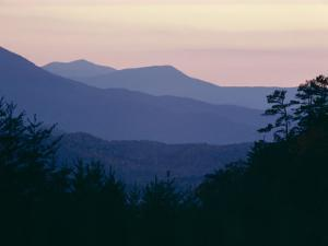 View of Afterglow from Foothills Park, West of Appalachian Mountains, Tennessee, USA by Julian Pottage