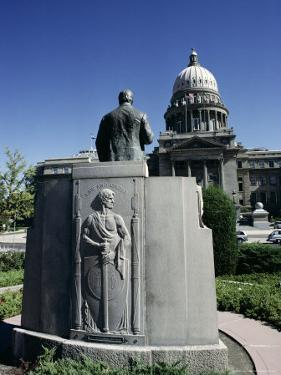 W. A. Coughanor Monument Outside Idaho Capitol, Boise, Idaho, USA by Julian Pottage