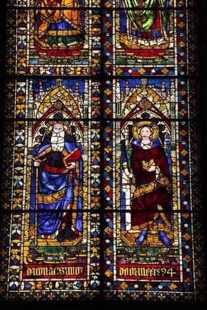 Stained Glass Windows in the Basilica Di Santa Maria Del Fiore (Florence Cathedral)