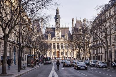 The Hotel De Ville (Town Hall) in Central Paris, France, Europe
