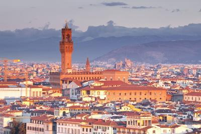 The View from Piazzale Michelangelo over to the Historic City of Florence