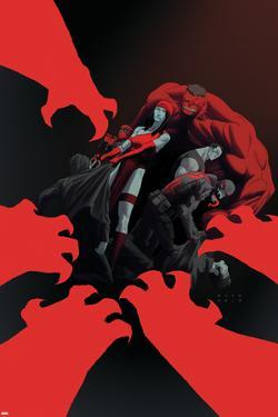 Thunderbolts #15 Cover: Elektra, Red Hulk, Deadpool, Punisher, Venom by Julian Totino Tedesco