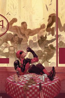 Thunderbolts #17 Cover: Deadpool, Red Hulk, Punisher, Venom, Elektra, Leader by Julian Totino Tedesco