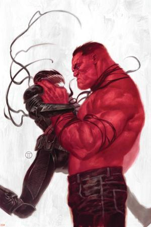 Thunderbolts #2 Cover: Red Hulk, Venom by Julian Totino Tedesco