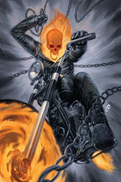 Thunderbolts #20 Cover: Ghost Rider by Julian Totino Tedesco