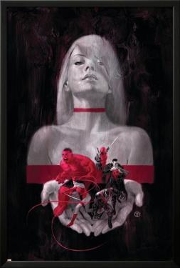 Thunderbolts #6 Cover: Mercy, Red Hulk, Deadpool, Elektra, Punisher, Venom by Julian Totino Tedesco