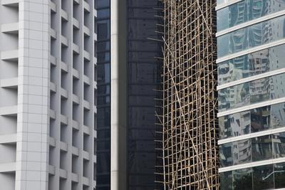 Bamboo Scaffolding, Hong Kong, China