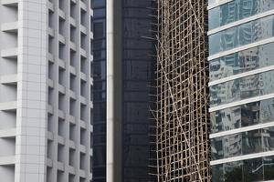 Bamboo Scaffolding, Hong Kong, China by Julie Eggers