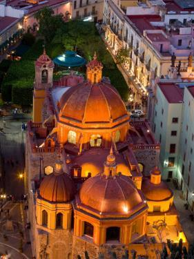 Church of San Diego and Jardin de la Union at Night, Guanajuato, Mexico by Julie Eggers
