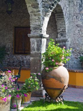 Courtyard of A Villa in San Miguel, San Miguel De Allende, Guanajuato State, Mexico by Julie Eggers