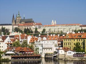 Czech Republic, Prague. Prague castle and Lesser town. by Julie Eggers