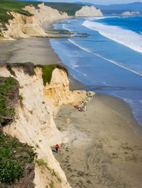 Drakes Beach, Point Reyes National Seashore, California, USA by Julie Eggers