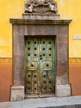 Entrance With Angels, San Miguel, Guanajuato State, Mexico by Julie Eggers