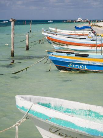 Fishing Boats Tied Up, Isla Mujeres, Quintana Roo, Mexico by Julie Eggers