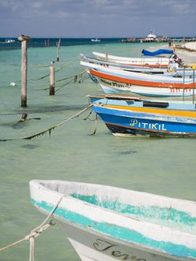 Fishing Boats Tied Up, Isla Mujeres, Quintana Roo, Mexico by Julie Eggers