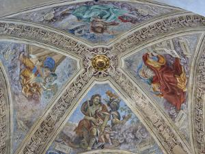 Italy, Florence. Ceiling paintings and frescoes in Santa Maria Novella. by Julie Eggers