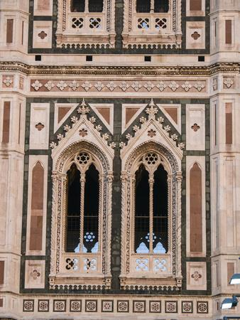 Italy, Florence. Detail of the Santa Maria del Fiore, Duomo Cathedral.