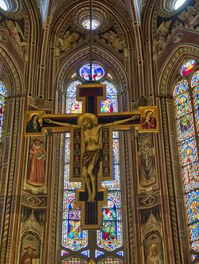 Italy, Florence. The Crucifix by Giotto in the Nave of the Church of Santa Maria Novelle. by Julie Eggers