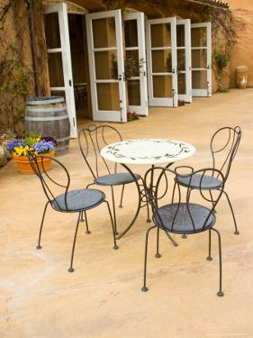 Patio Table at Viansa Winery, Sonoma Valley, California, USA by Julie Eggers