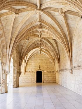 Portugal, Lisbon. Interior view in the Jeronimos Monastery, a UNESCO World Heritage Site. by Julie Eggers