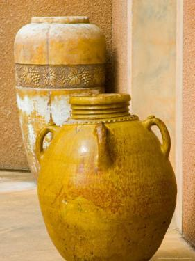 Pots on Display at Viansa Winery, Sonoma Valley, California, USA by Julie Eggers