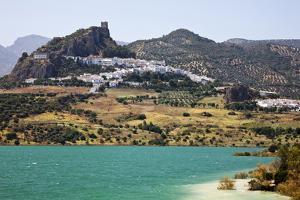 Spain, Andalusia, Cadiz Province. The village of Zahara de la Sierra. by Julie Eggers