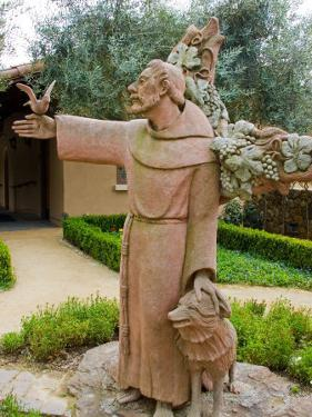 St. Francis Statue at the St. Francis Vineyards and Winery, Sonoma Valley, California, USA by Julie Eggers