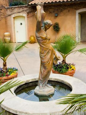 Statue of Goddess at Viansa Winery, Sonoma Valley, California, USA by Julie Eggers