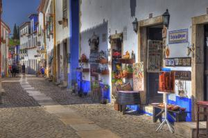 Street Along Obidos, Leiria, Portugal by Julie Eggers