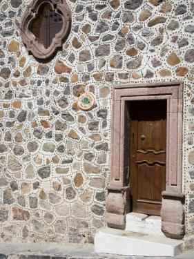 Unusual Stone Wall, San Miguel, Guanajuato State, Mexico by Julie Eggers