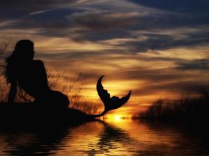 Mermaid Sunset by Julie Fain