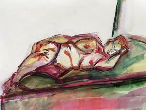 Fat Sleeping Nude, 2015 by Julie Held