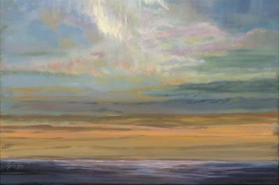 Distant Orange Light by Julie Joy