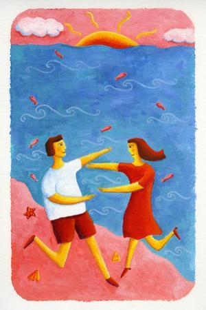 Couple Embracing on Beach, 2003