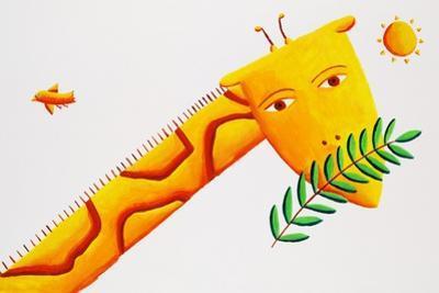 Giraffe and Leaves, 2002