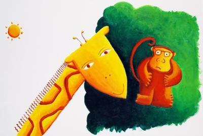Giraffe and Monkey, 2002