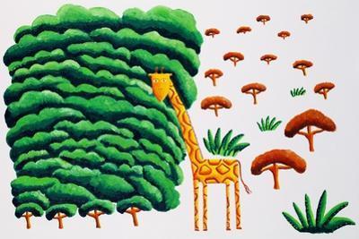 Giraffe and Trees, 2002