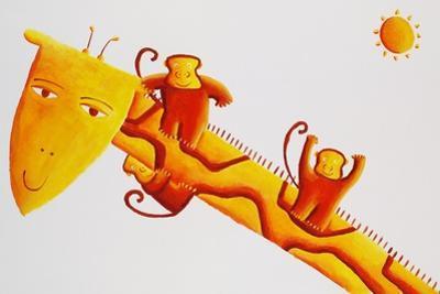 Monkeys Sliding Down Giraffe's Neck, 2002