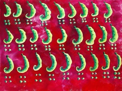 Peas on a Red Background, 2003