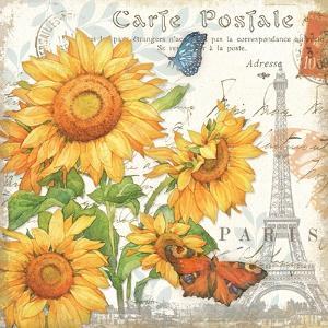 Carte Postale Sunflowers II by Julie Paton