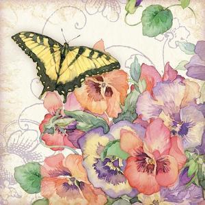 Pansies & Butterflies by Julie Paton