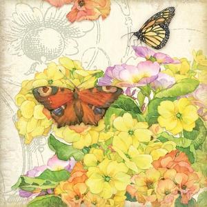 Primrose & Butterflies by Julie Paton