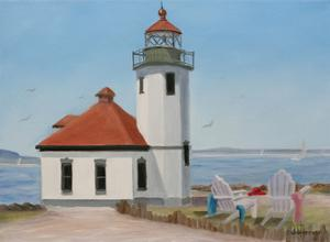Alki Point Lighthouse by Julie Peterson