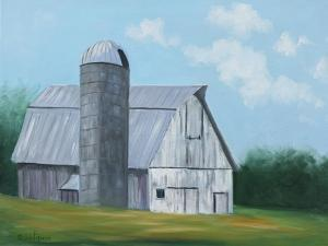 Barn & Silo by Julie Peterson