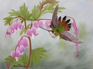 Bleeding Hearts and Hummer by Julie Peterson