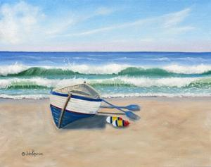 Boat on Shore by Julie Peterson