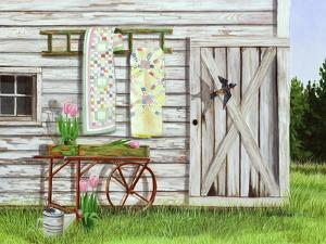 Garden Shed and Swallow by Julie Peterson