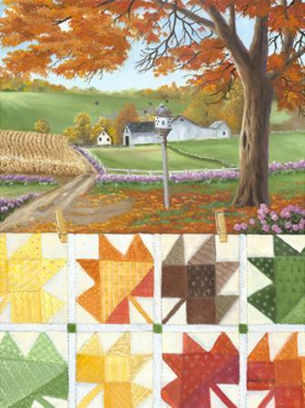 Maple Leaf Quilt by Julie Peterson