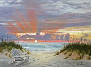 Ocean Sunset by Julie Peterson