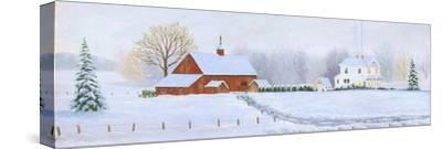 Red Barn in Snow by Julie Peterson